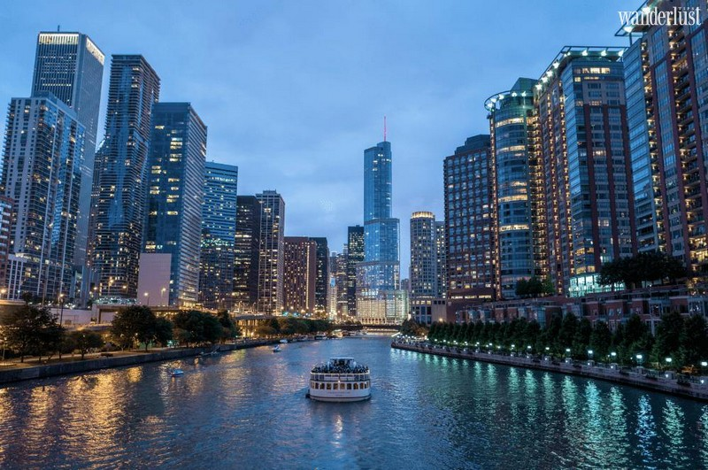Wanderlust Tips Magazine   Chicago Skyline aerial cable car
