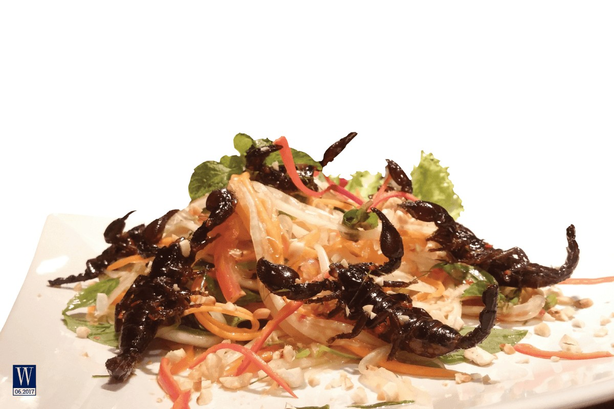 Wanderlust Tips Magazine | Insects on the dining table