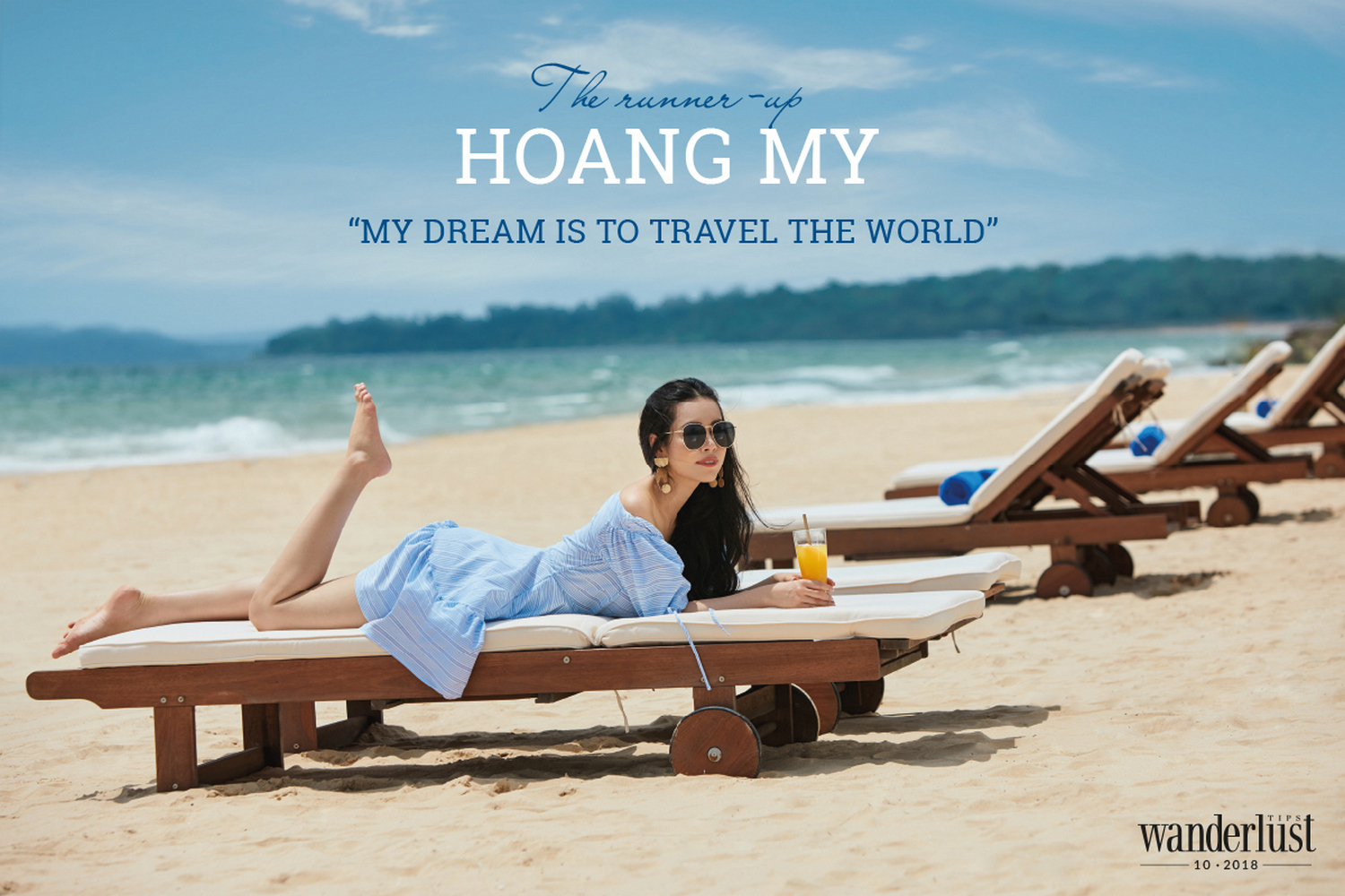 """The runner-up Hoang My """"My dream is to travel the world"""""""