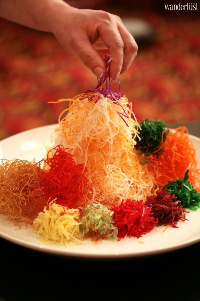 Wanderlust Tips Magazine | Fortuna Hanoi: Yu Sheng good luck toss salad
